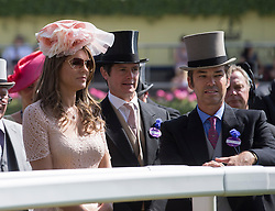 Image ©Licensed to i-Images Picture Agency. 21/06/2014. Ascot, United Kingdom.Liz Hurley attends the final day of the Royal Ascot meeting. Picture by i-Images