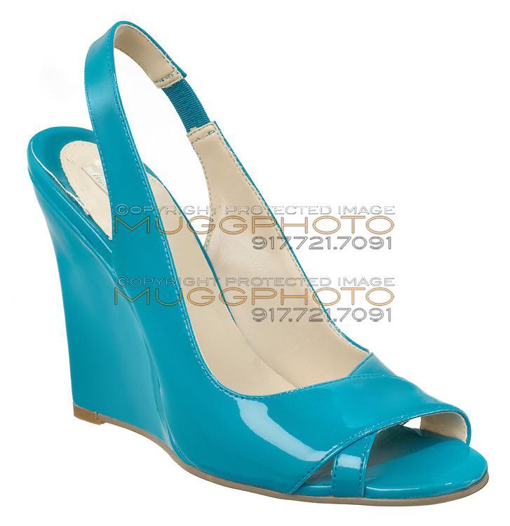 michael antonio high heel cyan wedge sandal