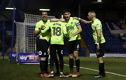 Steven Taylor of Peterborough United celebrates with team-mates after Jack Marriott scored the winning goal - Mandatory by-line: Joe Dent/JMP - 13/03/2018 - FOOTBALL - Gigg Lane - Bury, England - Bury v Peterborough United - Sky Bet League One