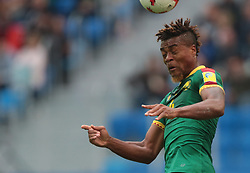 June 22, 2017 - Saint Petersburg, Russia - Adolphe Teikeu of the Cameroon national football team vie for the ball during the 2017 FIFA Confederations Cup match, first stage - Group B between Cameroon and Australia at Saint Petersburg Stadium on June 22, 2017 in St. Petersburg, Russia. (Credit Image: © Igor Russak/NurPhoto via ZUMA Press)