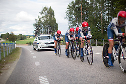 Nicole Hanselmann (SUI) of Cervélo-Bigla Cycling Team digs deep on a short climb during the 42,5 km team time trial of the UCI Women's World Tour's 2016 Crescent Vårgårda women's road cycling race on August 19, 2016 in Vårgårda, Sweden. (Photo by Balint Hamvas/Velofocus)
