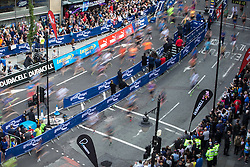 © Licensed to London News Pictures . 22/05/2016 . Manchester , UK . Start of the race at the foot of Portland Street . The Great Manchester Run in Manchester City Centre . Photo credit : Joel Goodman/LNP