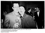 Vic Reeves & Damian Hirst. Tate Gallery, London.1 July 1997. Film 97623f4<br />