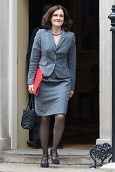 Downing Street, London, June 2nd 2015. Northern Ireland Secretary Theresa Villiers  leaves 10 Downing Street following the weekly meeting of the Cabinet.
