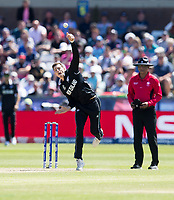 Cricket - 2019 ICC Cricket World Cup - Group Stage: England vs. NZ<br /> <br /> Mitchell Satner in action for New Zealand, at the Riverside, Chester-le-Street, Durham.<br /> <br /> COLORSPORT/BRUCE WHITE