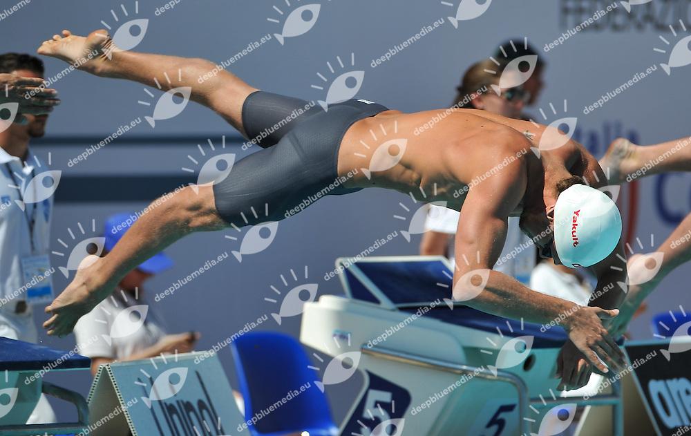 DOTTO Luca, Italy - Larus - Forestale<br /> 100 freestyle men<br /> 50 Settecolli Trofeo Internazionale di nuoto 2013<br /> swimming<br /> Roma, Foro Italico  12 - 15/06/2013<br /> Day02 batterie heats<br /> Photo Andrea Masini/Deepbluemedia/Insidefoto