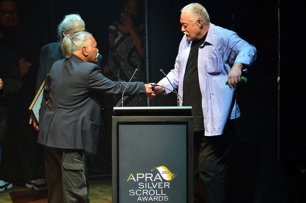 Herbs, inducted into the New Zealand Music Hall of Fame at the APRA Silver Scrolls Awards 2012. Auckland Town Hall. 13 September 2012.