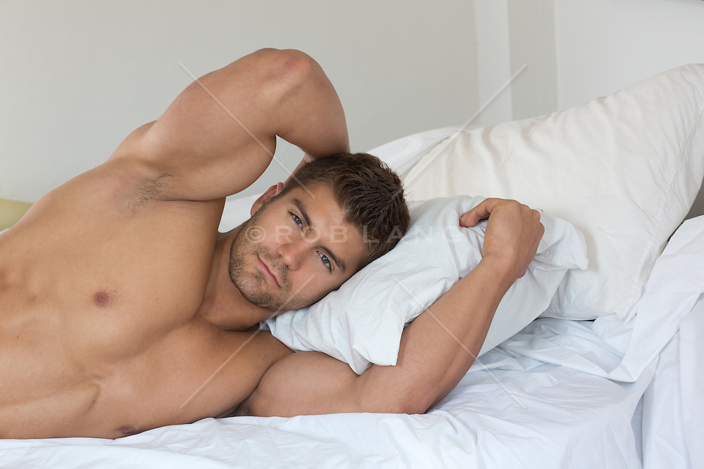 hunk in bed