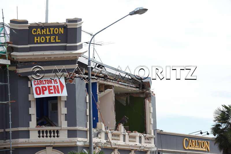Destruction in central Christchurch