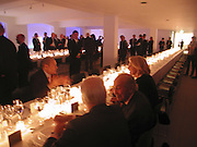Dinner, THE LOUISE T BLOUIN INSTITUTE OPENS WITH INAUGURAL EXHIBITION: James Turrell: A Life in Light Exhibition. OLAF ST. LONDON. 12 OCTOBER 2006.  -DO NOT ARCHIVE-© Copyright Photograph by Dafydd Jones 66 Stockwell Park Rd. London SW9 0DA Tel 020 7733 0108 www.dafjones.com