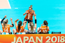 19-10-2018 JPN: Semi Final World Championship Volleyball Women day 20, Yokohama<br /> Serbia - Netherlands / Maret Balkestein-Grothues #6 of Netherlands