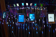 Nobel Peace Center in Oslo, Norway. Exhibit of past Peace Prize Winners.
