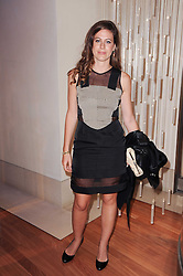 FRANCESCA VERSACE at a party to celebrate the B.zero 1 design by Anish Kapoor held at Bulgari, 168 New Bond Street, London n 2nd June 2010.