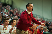 CVU head coach Michael Osborne in action during the boys semifinal basketball game between the Missisquoi Thunderbirds and the Champlain Valley Union Red Hawks at Patrick Gym on Tuesday night March 7, 2017 in Burlington. (BRIAN JENKINS/for the FREE PRESS)