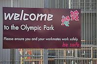 London 2012 Olympic Park, London, UK, 06 April 2011:  Contact: Rich@Piqtured.com +44(0)7941 079620