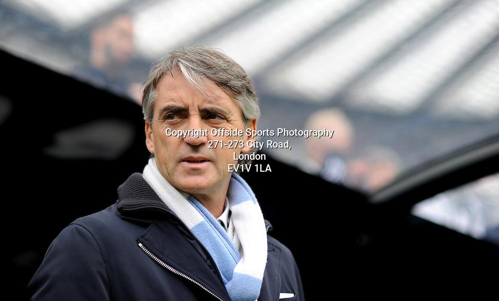 06/05/2012 - Barclays Premier League Football - 2011-2012 - Newcastle United v Manchester City - Man City Roberto Mancini. - Photo: Charlie Crowhurst / Offside.