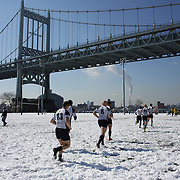 Mystic River players take to the field for their game with the Connecticut Yankees in the Men's Club Division game during the Four Leaf 15s Rugby Tournament which attracted over 60 clubs teams from New York and Interstate. Randall's Island Park, New York,  USA. 21st March 2015. Photo Tim Clayton