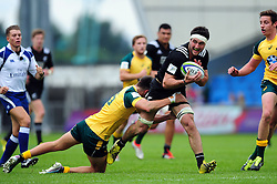 Luke Jacobson of New Zealand U20 takes on the Australia U20 defence - Mandatory byline: Patrick Khachfe/JMP - 07966 386802 - 25/06/2016 - RUGBY UNION - AJ Bell Stadium - Manchester, England - Australia U20 v New Zealand U20 - World Rugby U20 Championship 2016 5th Place Play-Off.