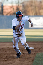 Virginia Cavaliers infielder David Adams (23) advanced to third base against Delaware.  The Virginia Cavaliers Baseball Team defeated the Delaware Blue Hens 11-2 in the first of a three game series at Davenport Field in Charlottesville, VA on March 2, 2007.