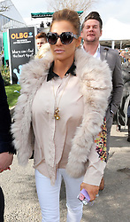 Katie Price arriving at the opening day of the Cheltenham Festival, United Kingdom, Tuesday, 11th March 2014. Picture by Stephen Lock / i-Images<br />