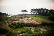 Deforested area in Yen Bai Province, Vietnam, Southeast Asia