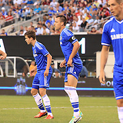 John Terry, Chelsea, (centre), in action during the Chelsea V AC Milan Guinness International Champions Cup tie at MetLife Stadium, East Rutherford, New Jersey, USA.  4th August 2013. Photo Tim Clayton