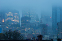 Downtown Toronto, Morning Fog