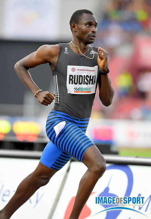 David Rudisha (KEN) places fourth in the 1,000m in 2:19.43 during the 56th Ostrava Golden Spike in an IAAF World Challenge meeting at Mestky Stadion in Ostrava, Czech Republic on Wednesday, June 28, 20017. (Jiro Mochizuki/Image of Sport)