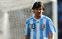 Lionel Messi (Argentina)  during the 2010 World Cup Soccer match between Argentina vs Korea Republic played at Soccer City in Johannesburg, South Africa on 17 June 2010.