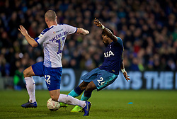BIRKENHEAD, ENGLAND - Friday, January 4, 2019: Tottenham Hotspur's Serge Aurier scores the first goal during the FA Cup 3rd Round match between Tranmere Rovers FC and Tottenham Hotspur FC at Prenton Park. (Pic by David Rawcliffe/Propaganda)