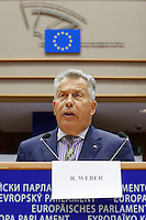 European Parliament of Enterprises at the European Parliament in Brussels on October 16, 2014.<br />  Witness Images/Thierry Roge