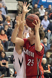 14 March 2014:  Gerry Wixted during an NCAA mens division 3 quarter final basketball game between the Dickinson Red Devils and the Wheaton Thunder in Shirk Center, Bloomington IL
