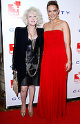 Cyndi Lauper and Katharina Harf pose at the 5th Annual DKMS Gala at Cipriani Wall Street in New York City on April 28, 2011.