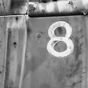 Old Number 8 Truck Panel - Journigan's Mill - Death Valley, CA - Black & White