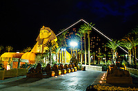 Exterior of Luxor Hotel and Casino at night, Las Vegas, Nevada USA