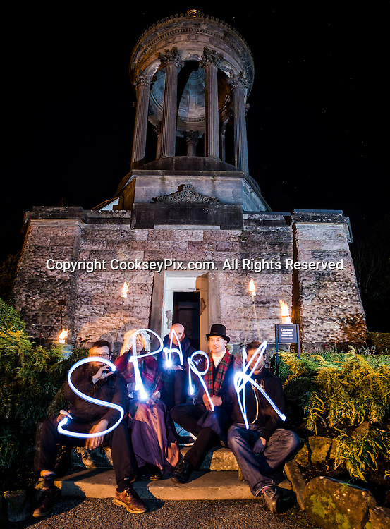 Picture by Christian Cooksey/CookseyPix.com<br /> Photo call at the Burns Monument and Gardens in Alloway, Ayrshire to highlight the Ae Spark o' Nature's Fire event at the Robert Burns Birthplace Museum, Alloway, Ayrshire on Monday the 29th of December 2014.<br /> Pictured left to right spelling out the word SPARK are Sam Hunt from Homecoming Scotland, Jakki Ross from South Ayrshire Council, David Hopes the Director of the Robert Burns Birthplace Museum, Stuart Cochrane from the National Trust of Scotland (Robert Burns Birthplace Museum) and Nathan Jackson from Walk The Plank.<br /> For further information please contact Craig Bradshaw, Communications Officer, South Ayrshire Council 01292 612150