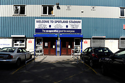 Rochdale, Spotland Stadium - Photo mandatory by-line: Dougie Allward/JMP - Mobile: 07966 386802 23/08/2014 - SPORT - FOOTBALL - Manchester - Spotland Stadium - Rochdale AFC v Bristol City - Sky Bet League One