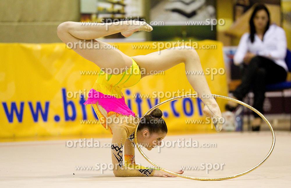 Evita Psenicny of Slovenia during 24th MTM International Youth Tournament in Rhythmic Gymnastics organized by Narodni dom Ljubljana, on April 9, 2011 in Arena Krim Galjevica, Ljubljana, Slovenia.  (Photo By Vid Ponikvar / Sportida.com)
