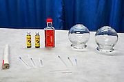 Chinese Acupuncture equipment needles, oil, and fire cups