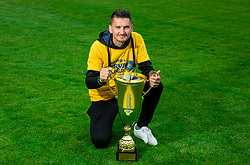 Andraz Kirm during celebration of NK Bravo, winning team in 2nd Slovenian Football League in season 2018/19 after they qualified to Prva Liga, on May 26th, 2019, in Stadium ZAK, Ljubljana, Slovenia. Photo by Vid Ponikvar / Sportida