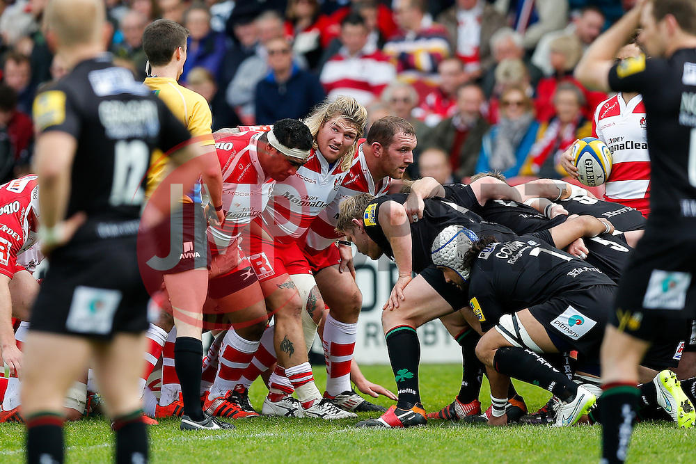 Gloucester Hooker Richard Hibbard looks on - Photo mandatory by-line: Rogan Thomson/JMP - 07966 386802 - 09/05/2015 - SPORT - RUGBY UNION - Gloucester, England - Kingsholm Stadium - Gloucester Rugby v London Irish - Aviva Premiership.
