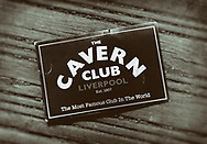 London, England - June 09, 2017: A Flyer for The Cavern Club on Matthew Street, Liverpool, England, Made famous by The Beatles in the 1960's