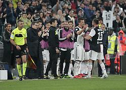 May 19, 2019 - Turin, ITA, Italy - Mario Mand?uki? and Andrea Barzagli during Serie A match between Juventus v Atalanta, in Turin, on May 19, 2019  (Credit Image: © Loris Roselli/NurPhoto via ZUMA Press)