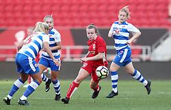 Lauren Hemp of Bristol City Women gets away from Kirsty McGee of Reading Women - Mandatory by-line: Gary Day/JMP - 22/04/2017 - FOOTBALL - Ashton Gate - Bristol, England - Bristol City Women v Reading Women - FA Women's Super League 1 Spring Series