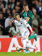 FOOTBALL: Kasper Kusk (FC København) and Aleksei Miranchuk (Lokomotiv Moskva) during the UEFA Europa League Group F match between FC København and FC Lokomotiv Moskva at Parken Stadium, Copenhagen, Denmark on September 14, 2017. Photo: Claus Birch
