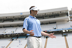 19 April 2008: North Carolina men's lacrosse assistant coach Greg Paradine before a 13-9 win over the Hofstra Pride at Kenan Stadium in Chapel Hill, NC.