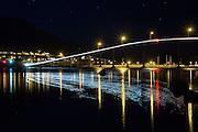 Kvalsund bridge by night | Kvalsundbrua i kveldslys
