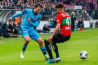 NIJMEGEN- 07-05-2017, NEC - AZ,  Stadion De Goffert, 2-1, AZ speler Joris van Overeem, NEC Nijmegen speler Arnaut Groeneveld