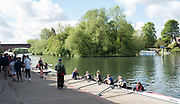 Maidenhead. Berkshire. United Kingdom. General view Competitors, boating, Maidenhead RC Boathouse. 2017 Maidenhead Junior Regatta  River Thames. <br /> <br /> [©Peter SPURRIER/Intersport Images] Sunday. 14.05.2017