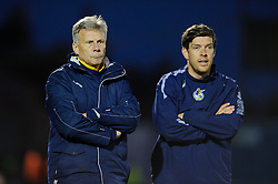 Bristol Rovers Manager John Ward (ENG) and assistant manager Darrell Clarke look on during the match - Photo mandatory by-line: Rogan Thomson/JMP - Tel: Mobile: 07966 386802 - 21/12/2013 - SPORT - FOOTBALL - Memorial Stadium, Bristol - Bristol Rovers v Portsmouth - Sky Bet League Two.